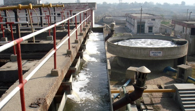 The 36 million litres daily common effluent treatment plant often performs below capacity. Image Credit: Juhi Chaudhary