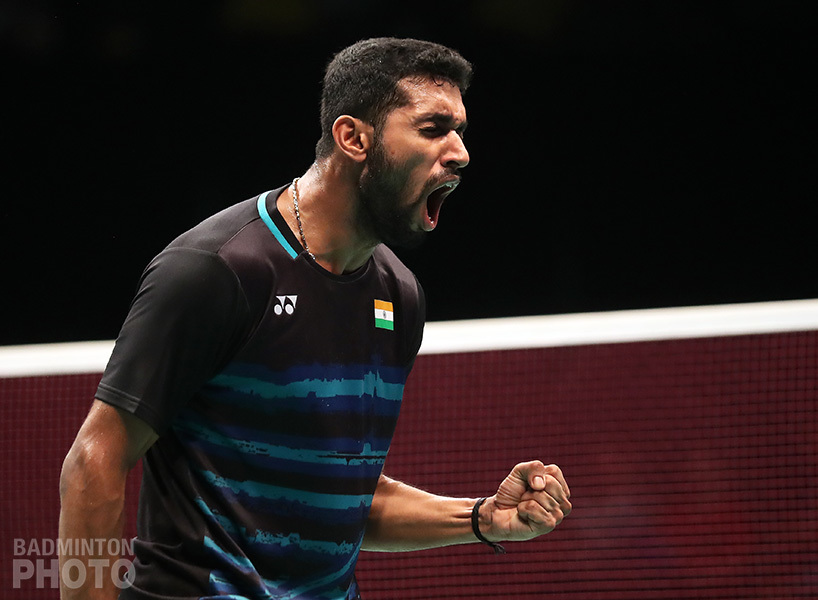 HS Prannoy at the Indonesia Open. Image Credit: Badminton Photo
