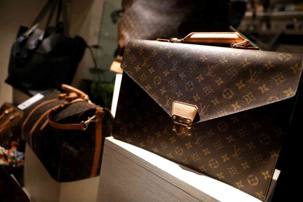 Louis Vuitton products at the RealReal store in New York. Photo credit: Mike Segar/Reuters.