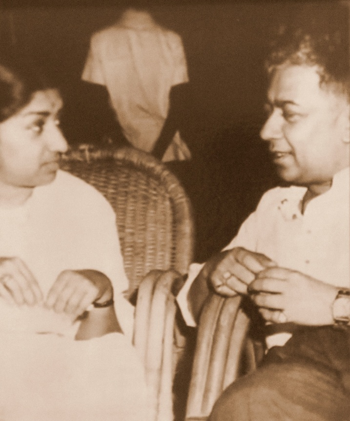 Chitragupta with Lata Mangeshkar. Courtesy Sudha Shrivastava.