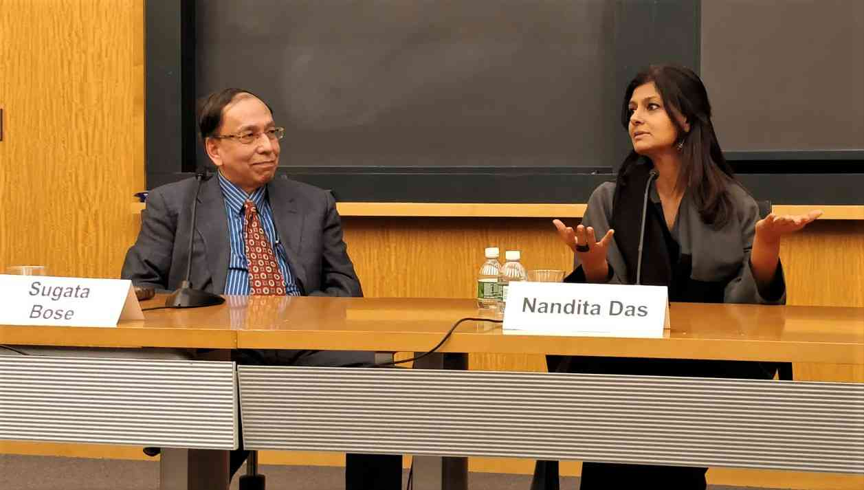 Nandita Das speaks at an event during her university tour in the United States. Photo courtesy Nandita Das
