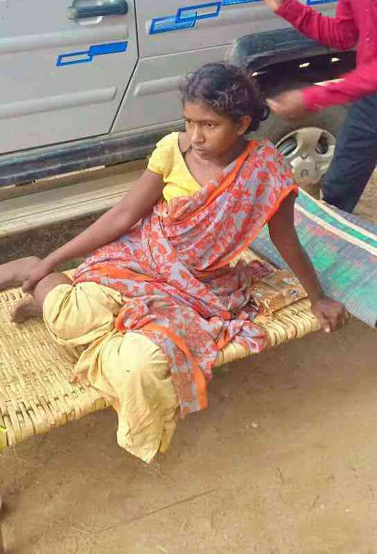 A picture of Dudhi Budhri released by the police after she was detained. She is currently being treated for a dislocated hip at a hospital in Sukma. Photo credit: Malini Subramaniam