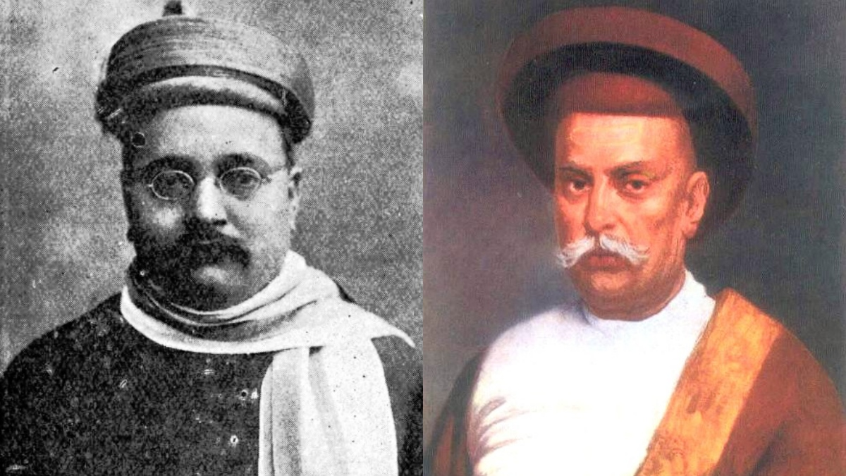 Independence movement pioneers Gopal Krishna Gokhale (left) and Mahadev Govind Ranade.