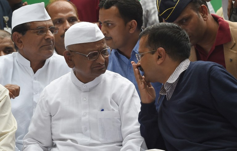 It was Arvind Kejriwal's activism and organisational skills that contributed to making the 2011 anti-corruption movement led by social activist Anna Hazare the success it was. Credit: Money Sharma / AFP