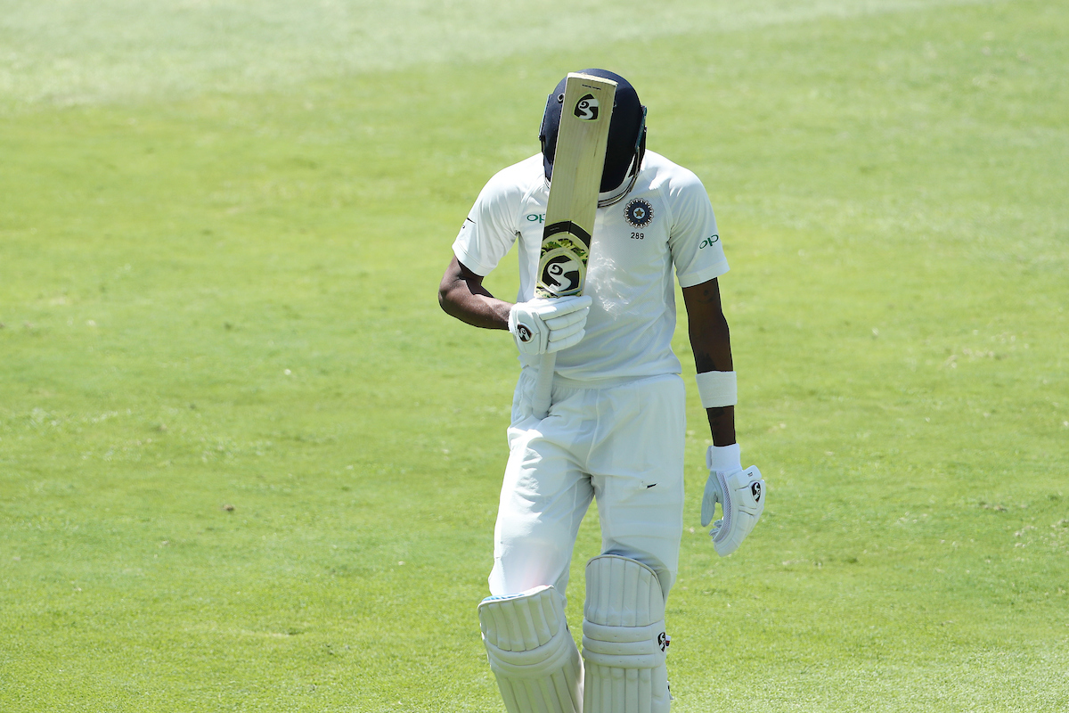 Hardik Pandya reacts after getting run out on day three| Image credit: Ron Gaunt/BCCI/SPORTZPICS