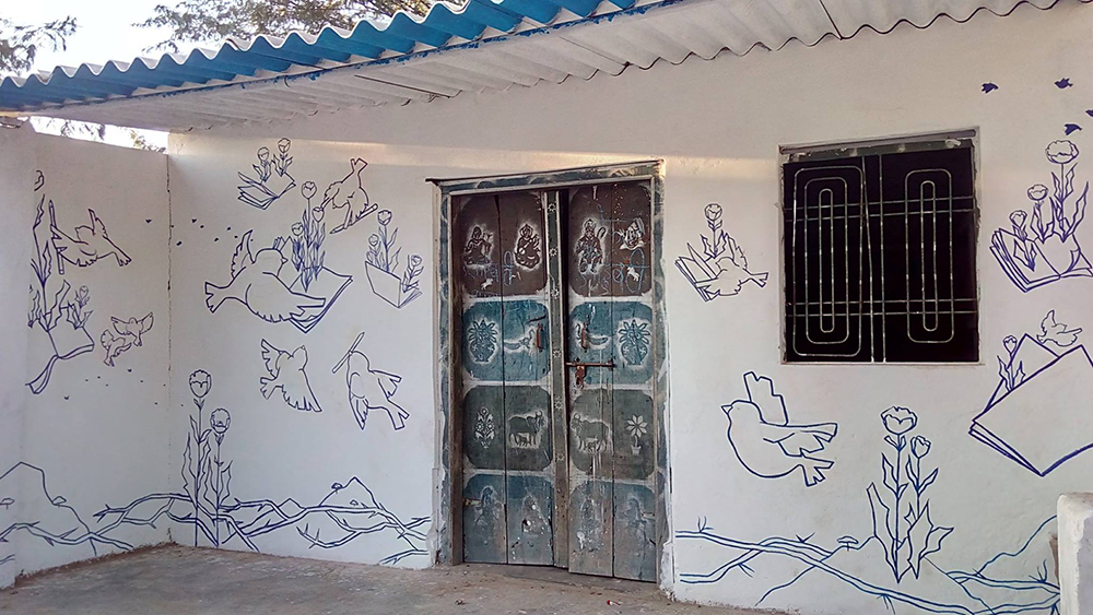 Dhapara community library, Rajasthan. Credit: Loktantrashala - School For Democracy/Facebook.com