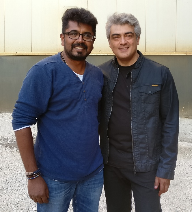 Vetri Palanisamy with Ajith.