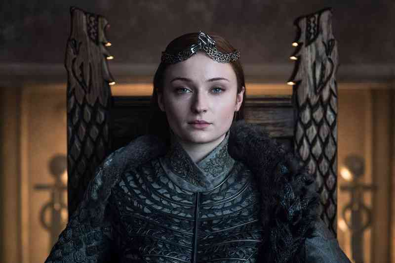 Sansa Stark (Sophie Turner ) in the Game of Thrones series finale. Courtesy HBO.