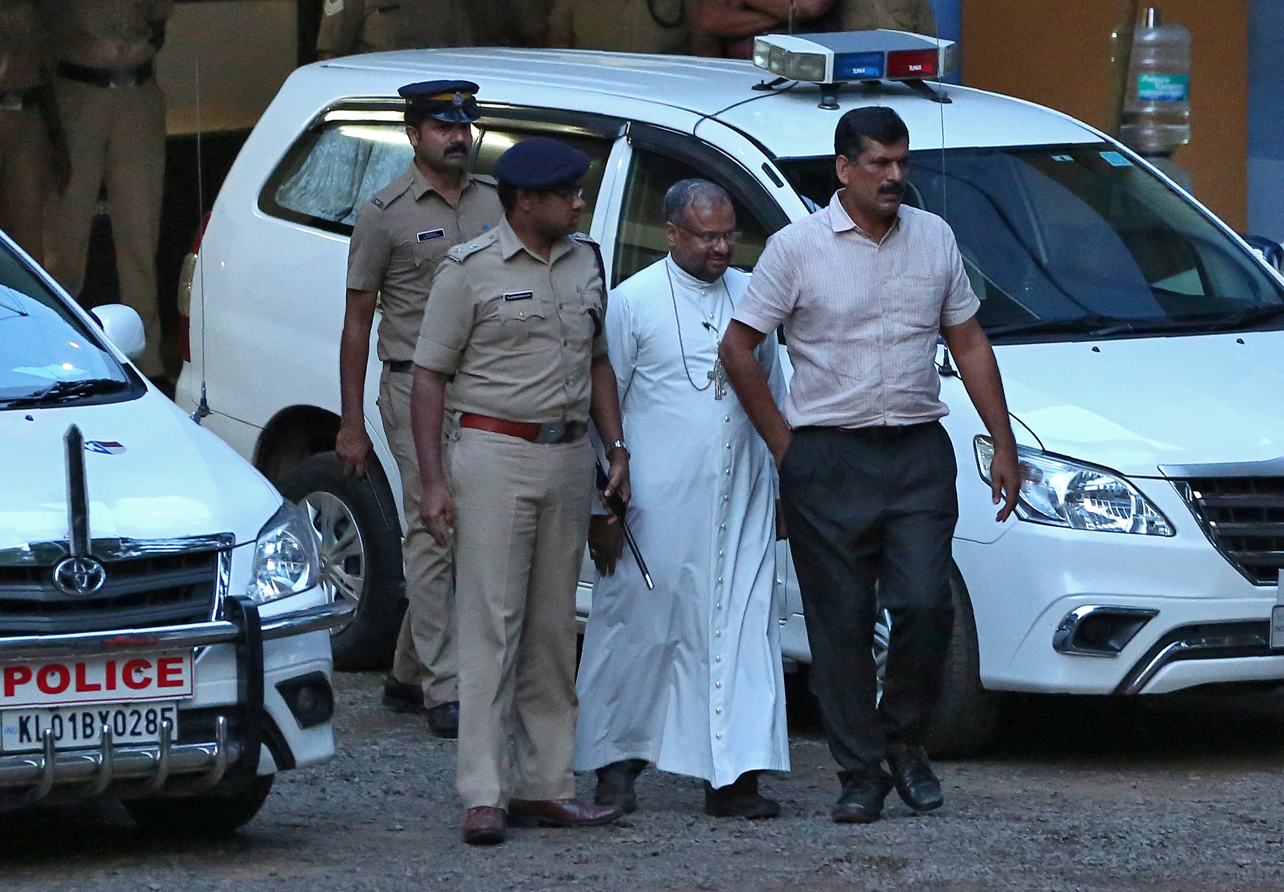 Bishop Franco Mulakkal was arrested last September and is currently out on bail. Photo credit: Reuters