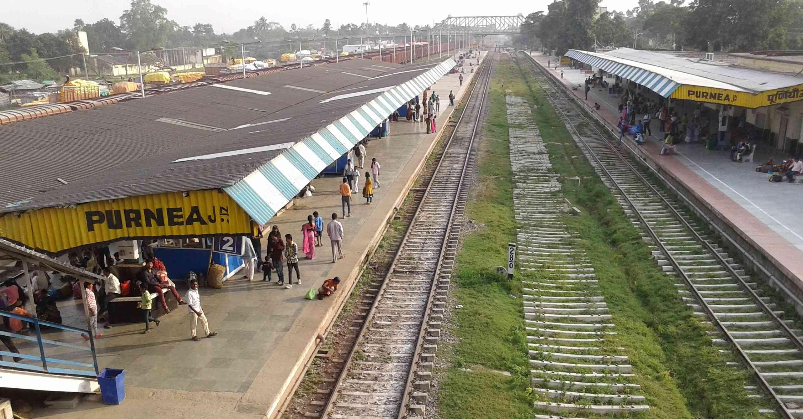 पूर्णिया रेलवे स्टेशन | फोटो : हेमंत कुमार पाण्डेय