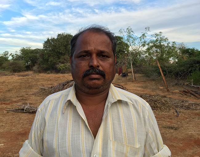 Sambath, a farmer from Mahashivanendal.