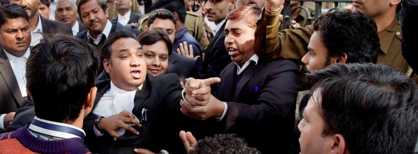 Lawyers clashed in Patiala House in 2016.