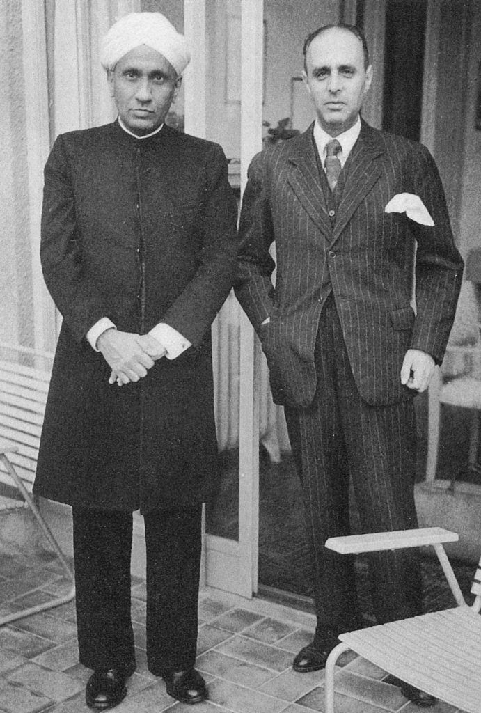 Richard Bär with C V Raman. Photo credit: Wikimedia Commons [Licensed under CC BY public domain]
