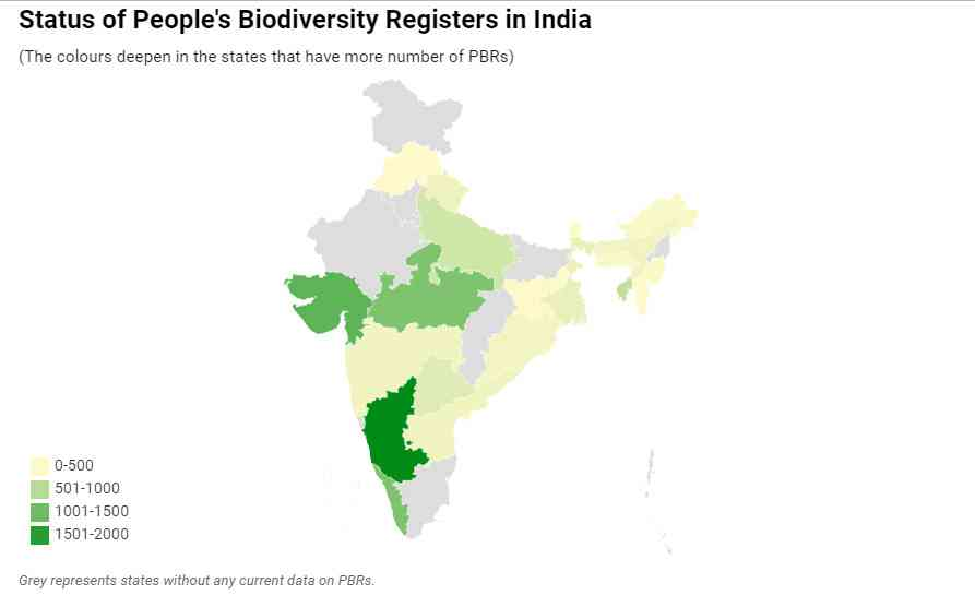 Map: Sahana Ghosh/Mongabay   Source: National Biodiversity Authority