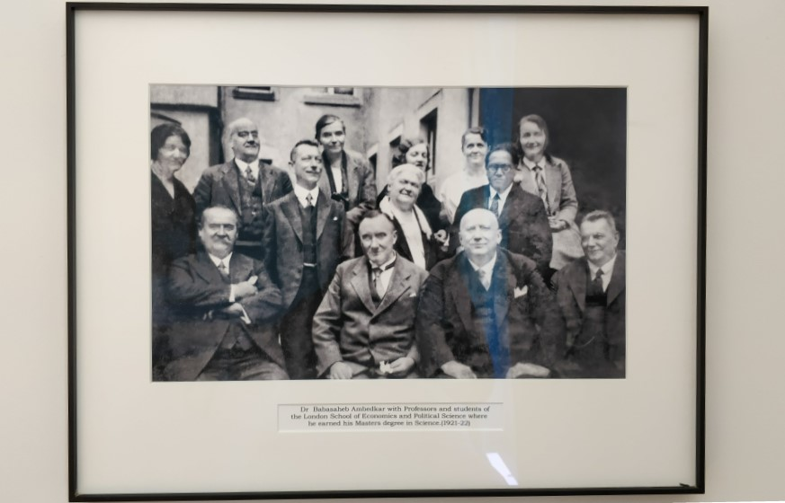 Ambedkar (second row) with his professors and students of the London School of Economics. Photo credit: Mahima A Jain