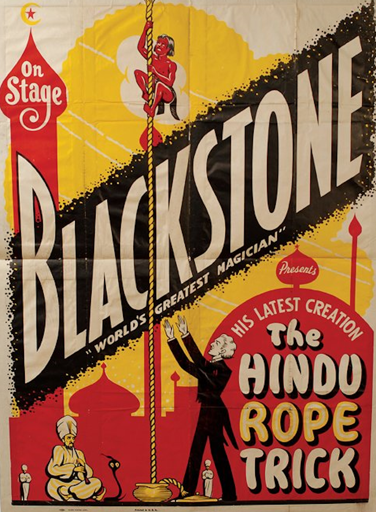 By the 1920s the Rope Trick was on the programme of many of the world's leading magicians including Harry Blackstone | Wikimedia Commons.