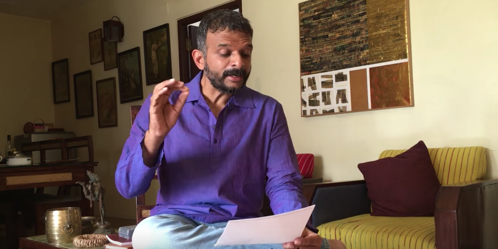 Carnatic music vocalist TM Krishna said harassment in India's classical arts circles is an open secret. (Credit: YouTube)