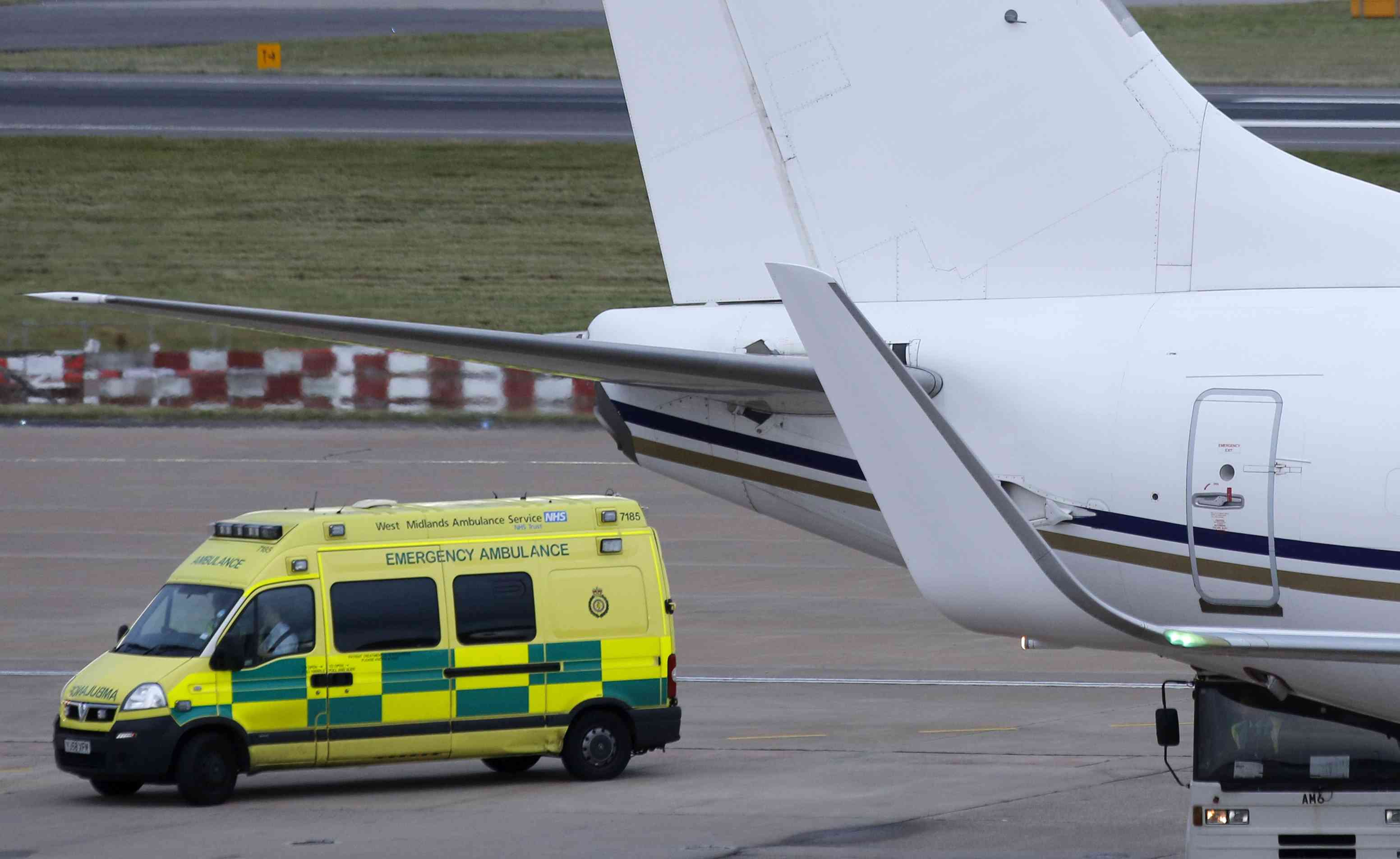 An ambulance carries injured Pakistani teenager Malala Yousufzai from a Emirati medical transport aircraft at Birmingham International airport in central England October 15, 2012 | Photo credit: Chris Helgren / Reuters