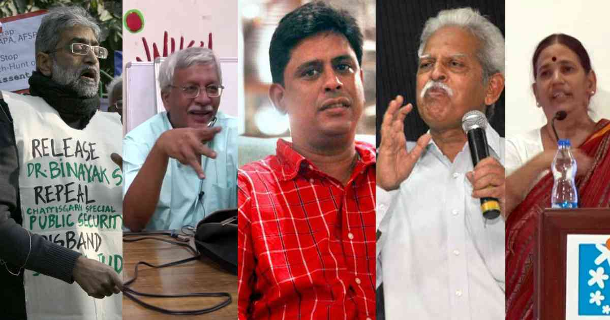The five activists arrested on August 28 – Gautam Navlakha, Vernon Gonsalves, Arun Ferriera, Varavara Rao and Sudha Bhardwaj.