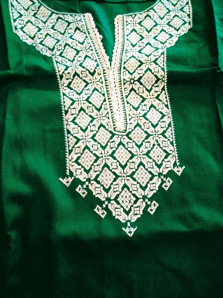 Bridal tunic with Khamak embroidery. Photo credit: Nayantara Raja