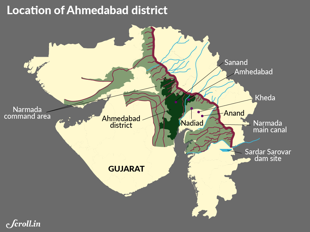 Why are 32 droughthit villages in Gujarat not getting the Narmada