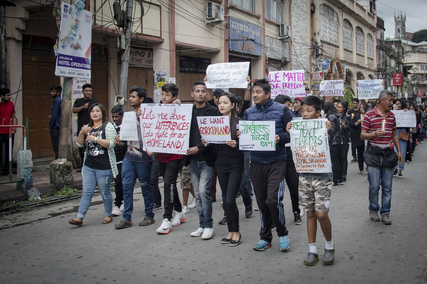 A march held by students on Tuesday. Photo: Brihat Rai