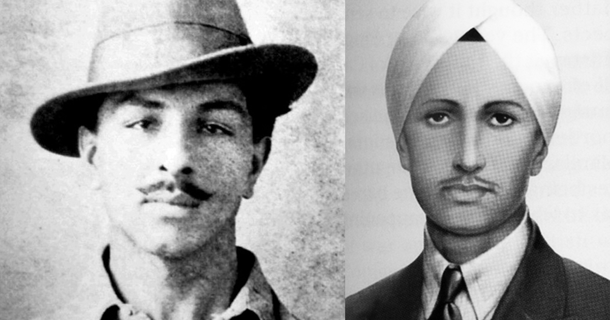 Bhagat Singh (left) is believed to have carried a photograph of Ghadari revolutionary Kartar Singh Sarabha in his pocket.