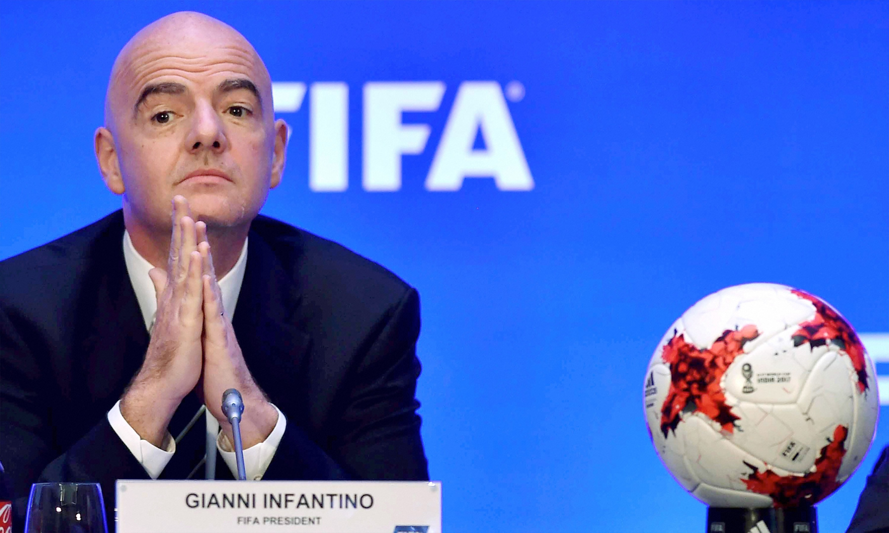 Fifa President Gianni Infantino is believed to strongly support the North American bid (Image: AFP)