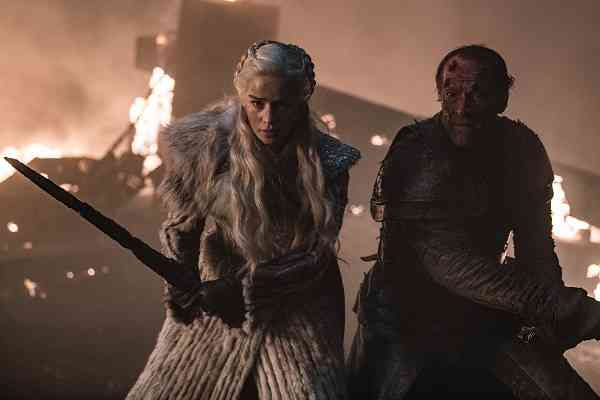 Daenerys Targaryen (Emilia Clarke) and Jorah Mormot (Iain Glen) in Game of Thrones season 8 episode 3 (2019). Courtesy HBO.