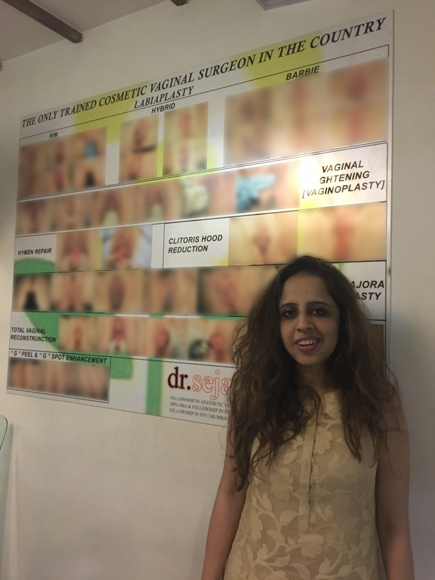 Dr Sejal Desai offers 'vaginal rejuvenation procedures' at her Mumbai clinic.
