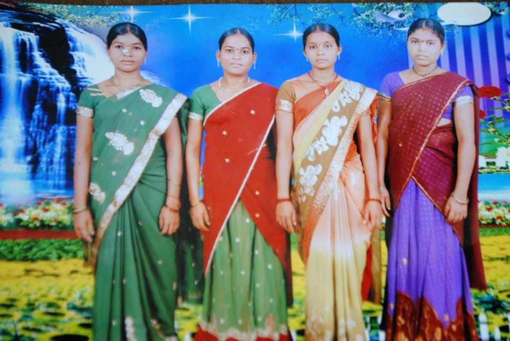 Hidme, second from left, with her friends.