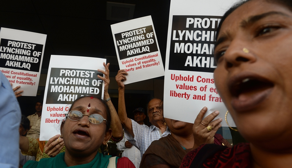 The lynching of Mohammad Akhlaq in Dadri, Uttar Pradesh, in 2015 triggered country-wide outrage. Image credit: AFP