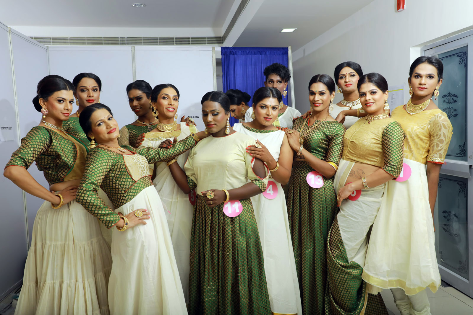 Contestants at Dhwayah Arts and Charitable Society's beauty pageant. Photo credit: Justin Anthony