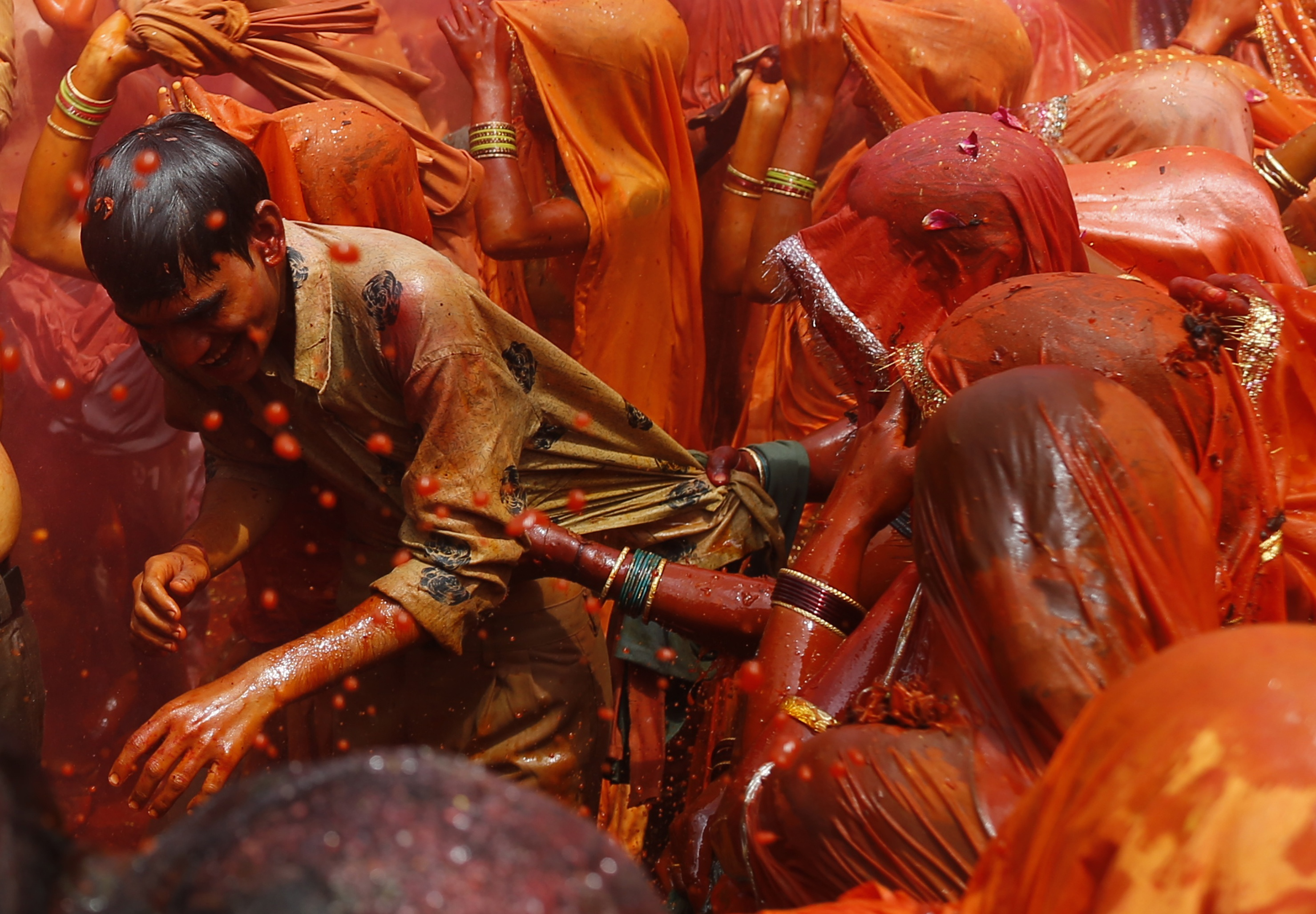Holi in Mathura. Photo credit: Ahmad Masood/Reuters