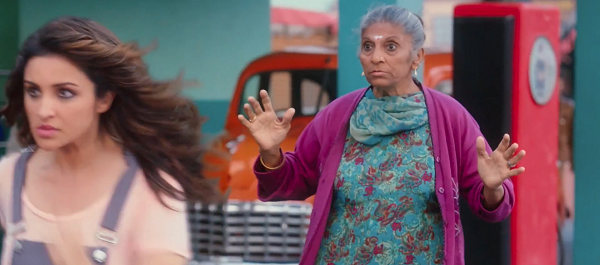 Reshma Pathan in Golmaal Again, as seen in The Sholay Girl (2019). Courtesy Zee5.