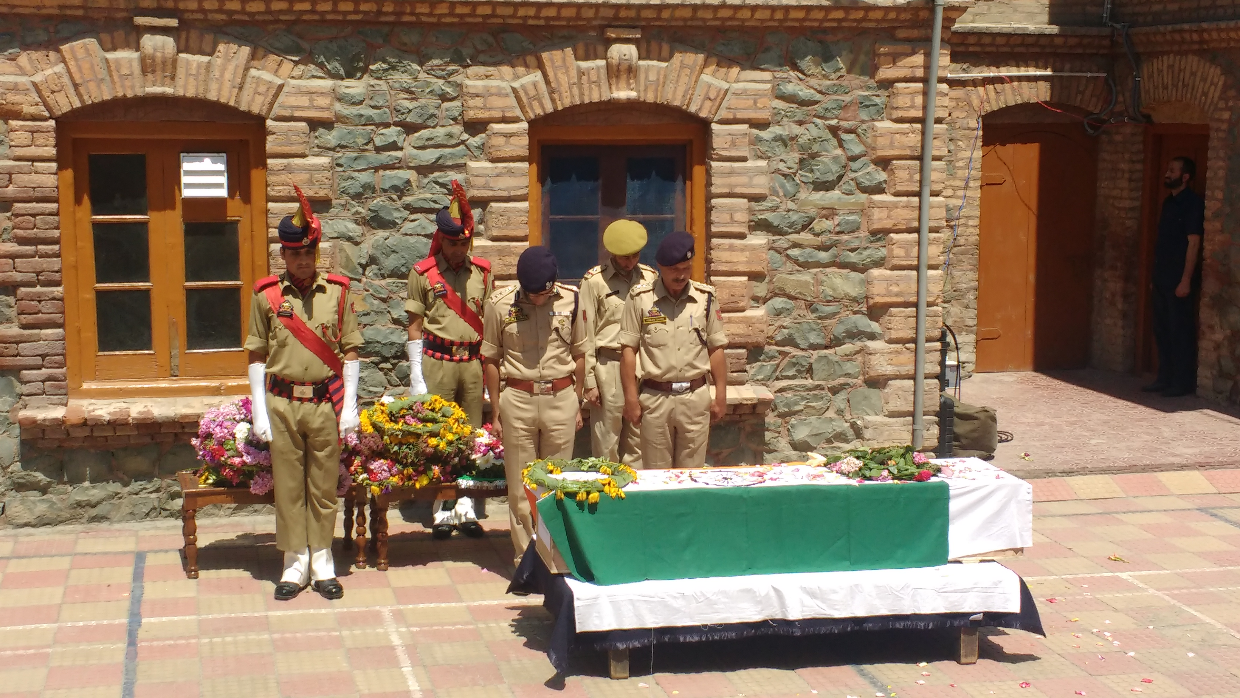 Mohammad Ayub Pandith's wreath laying ceremony
