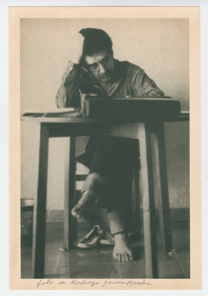 Working at a desk, undated, by García Barcha, Rodrigo (Harry Ransom Center at The University of Texas, Austin)
