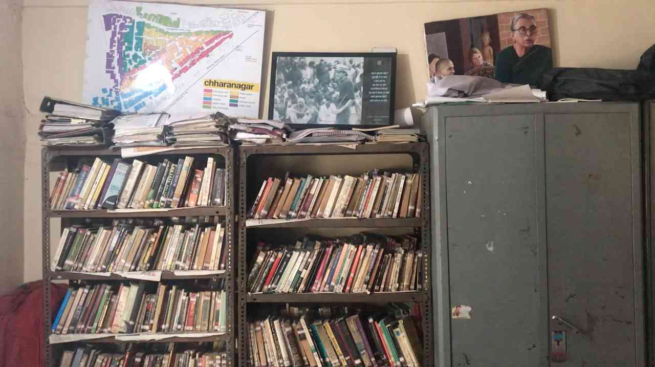 The reading room in Chharanagar, which doubles up as a space for filmmaking and theatre workshops.