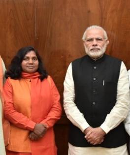 Sadhvi Savitri Bai Phule with Prime Minister Narendra Modi. (Credit: pmindia.gov.in)