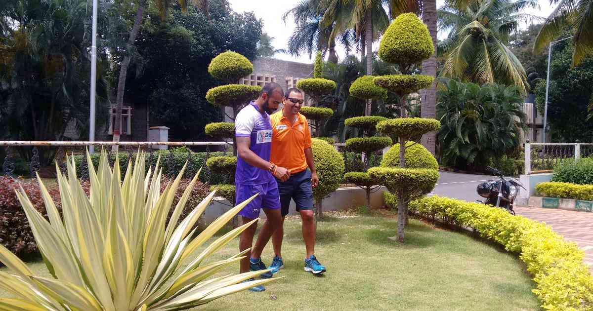 Sreejesh with Harendra Singh (Credit: Praveen Sudevan)