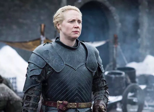 Gwendoline Christie as Brienne of Tarth. Courtesy HBO.