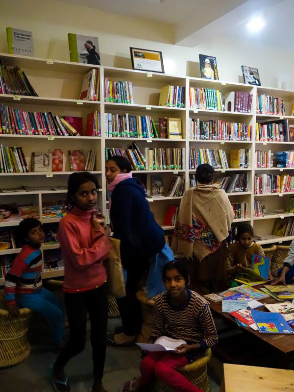 Community libraries bring reading and literature to areas where books are hard to come by. Credit: Deepalaya Community Library Project/Facebook.com