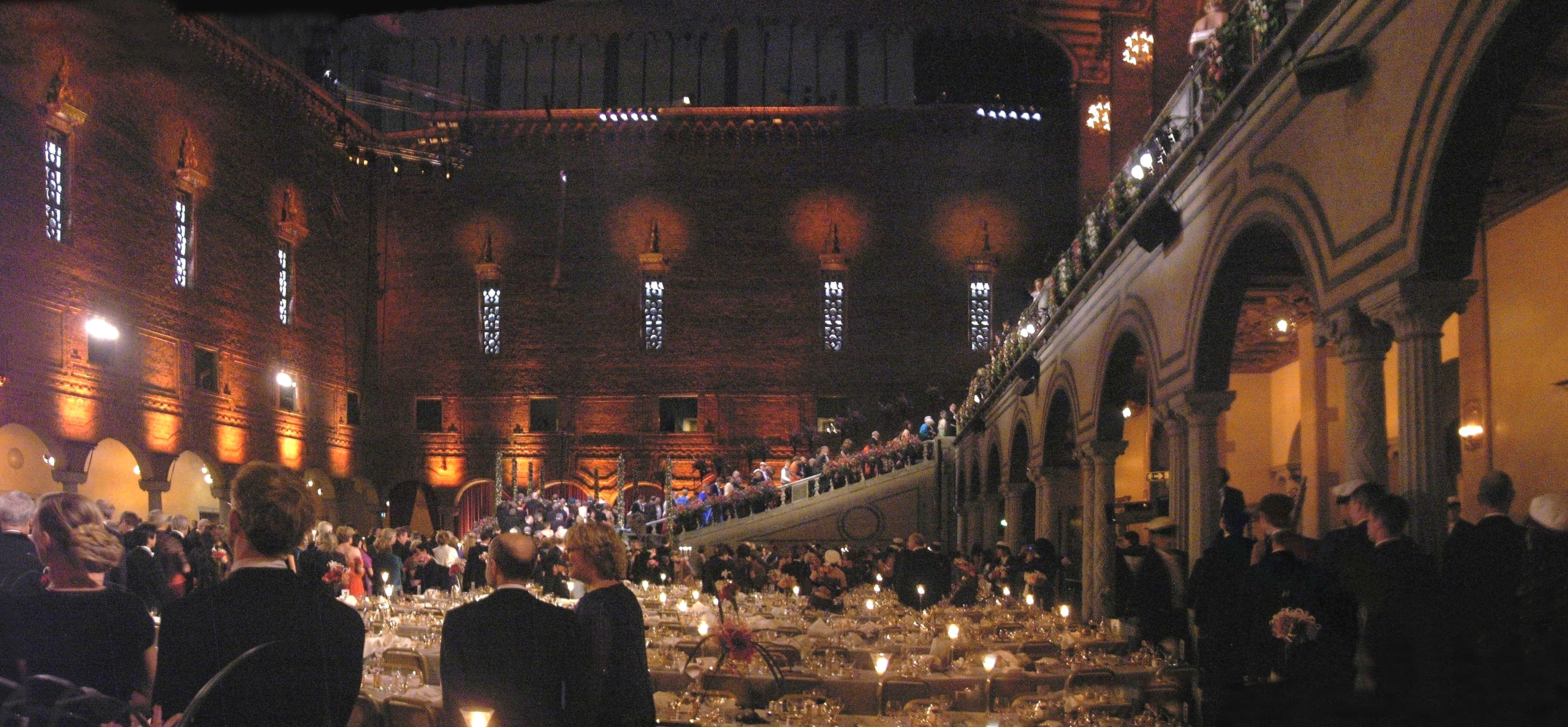 Panoramic shot of the Nobel Prize Banquet. Image Credit: Wikimiedia Commons