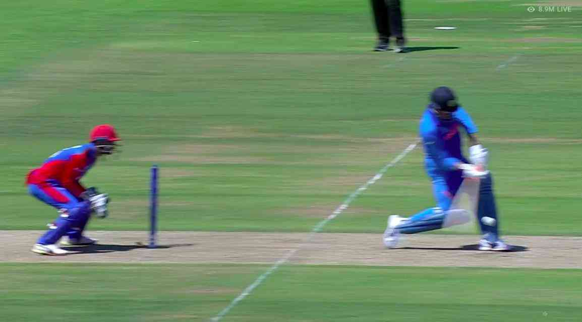 MS Dhoni was out stumped for only the second time in his career