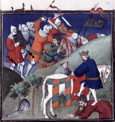 A 15th-century French miniature depicts the Battle of Manzikert.