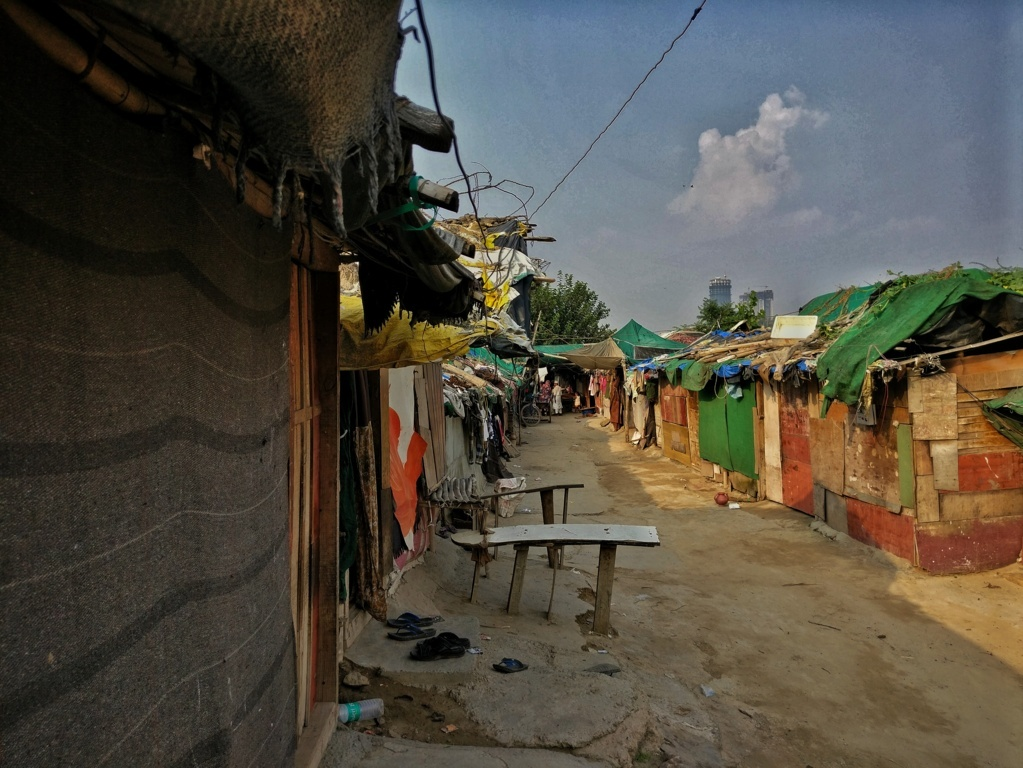 The Kalindi Kunj settlement is home to about 74 Rohingya families (Image: Suyash Srivastava)