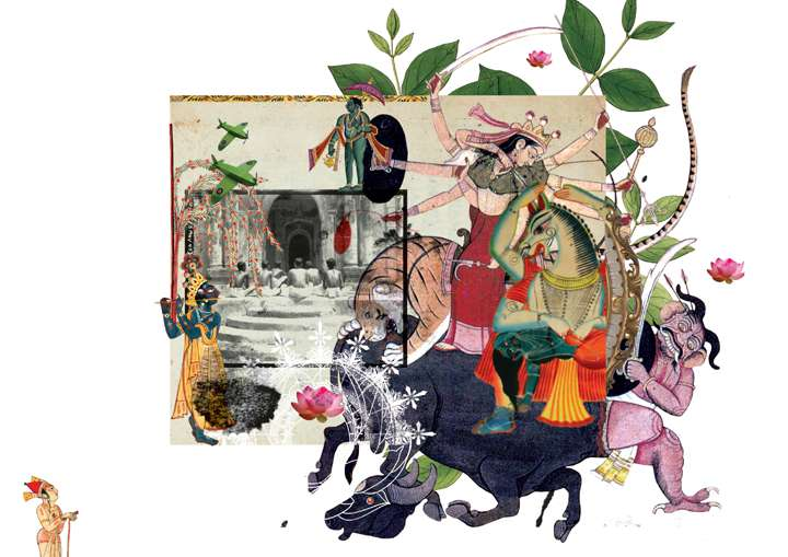 Untitled, by artist Sunandini Banerjee. A digital collage printed on archival paper.