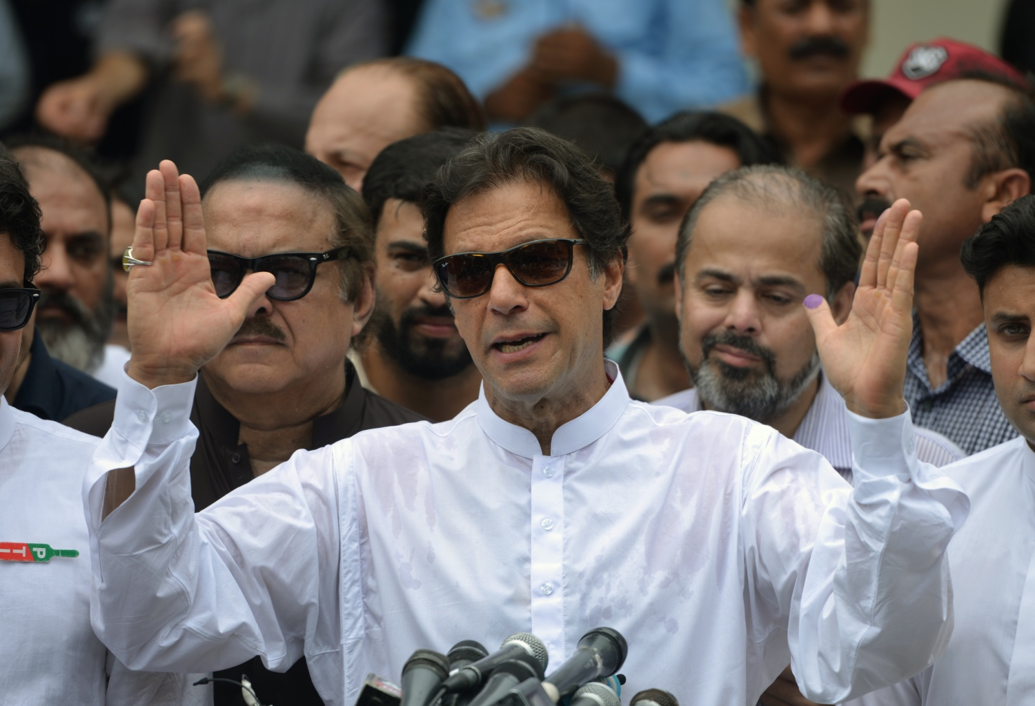 Former cricketer Imran Khan is likely to be Pakistan's next prime minister. (Photo credit: Aamir Qureshi/AFP).