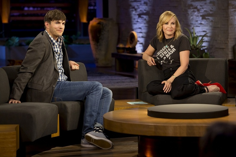 Chelsea Handler and Ashton Kutcher. Courtesy Netflix.