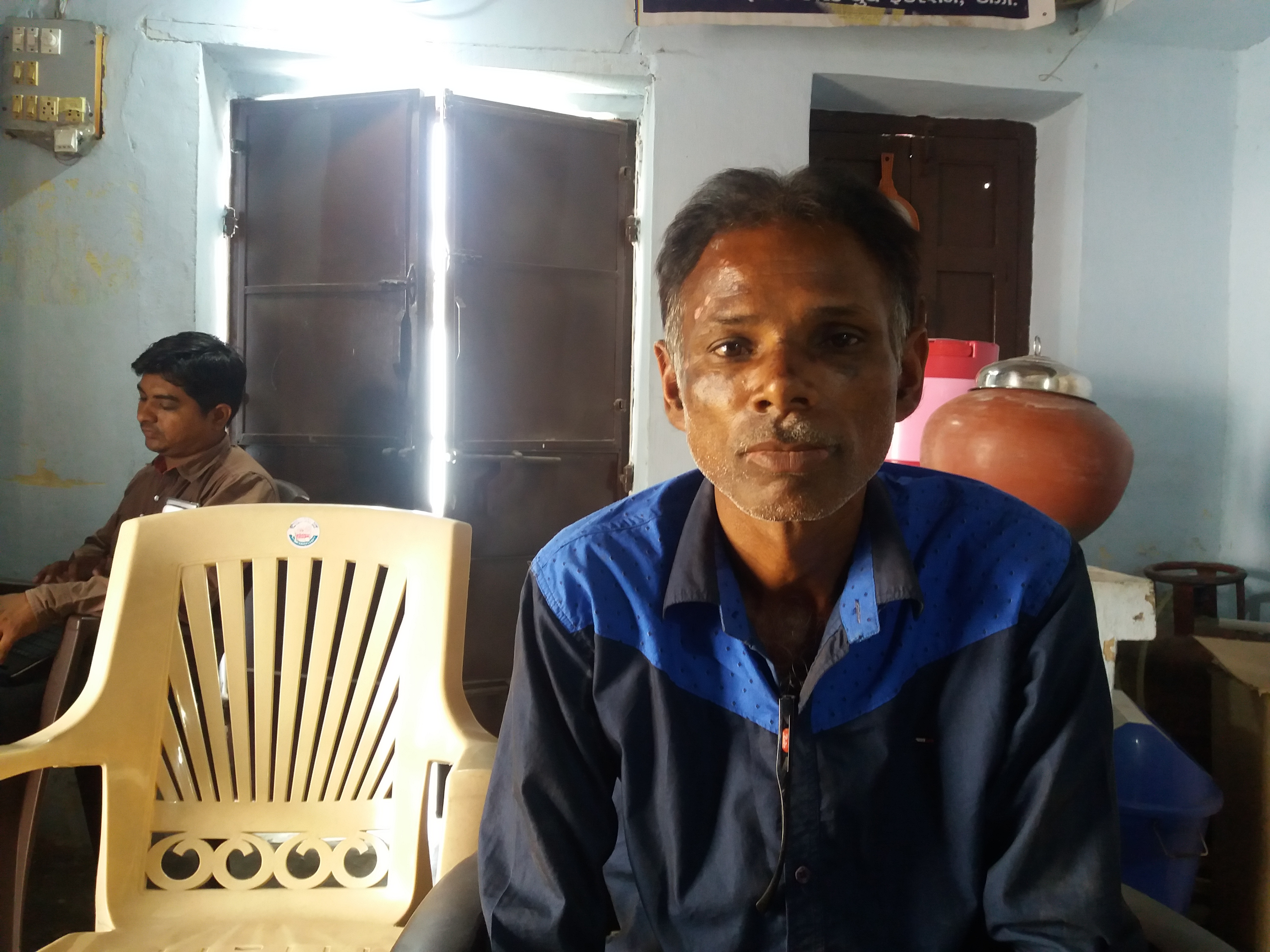 Jagdish Chamar, a Dalit resident of Vanagala village, has been fighting for his land for 10 years.